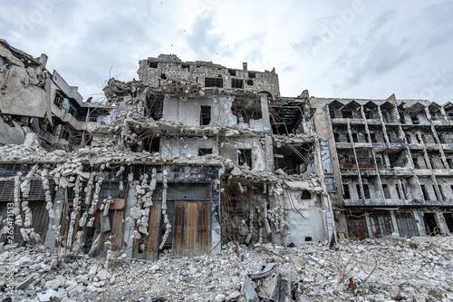 Photo la ville  Alep en syrie après sa destruction