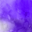 canvas print picture - Violet ink and watercolor textures on white paper background. Paint leaks and ombre effects. Hand painted abstract image.