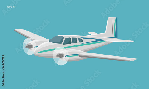 Small plane vector illustration Billede på lærred