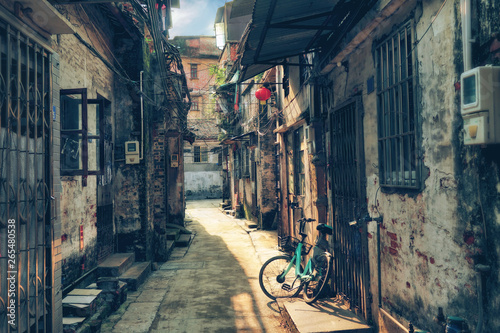 Canvas Prints Narrow alley sunlit narrow street of Chinese hutong