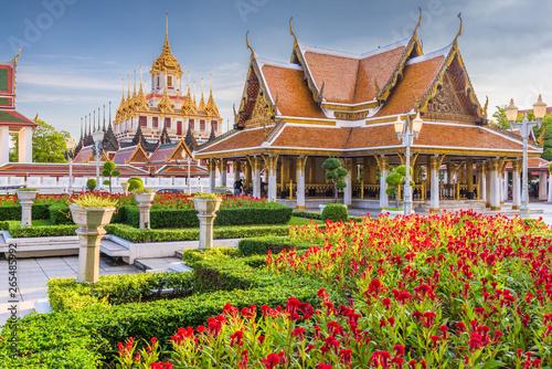 Spoed Foto op Canvas Bangkok Wat Ratchanatdaram Temple in Bangkok, Thailand.