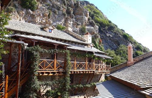 Christian Orthodox Monastery of Simonos Petras, Holy Mount Athos, Greece Fototapet