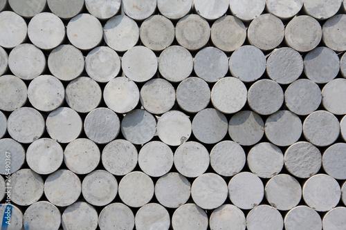 Fényképezés  Concrete cylindrical samples for concrete mixes testing.