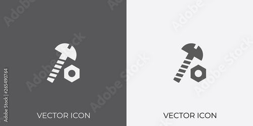 Light Dark Gray Icon Of Nut Bolt For Mobile Software App Eps 10 Buy This Stock Vector And Explore Similar Vectors At Adobe Stock Adobe Stock