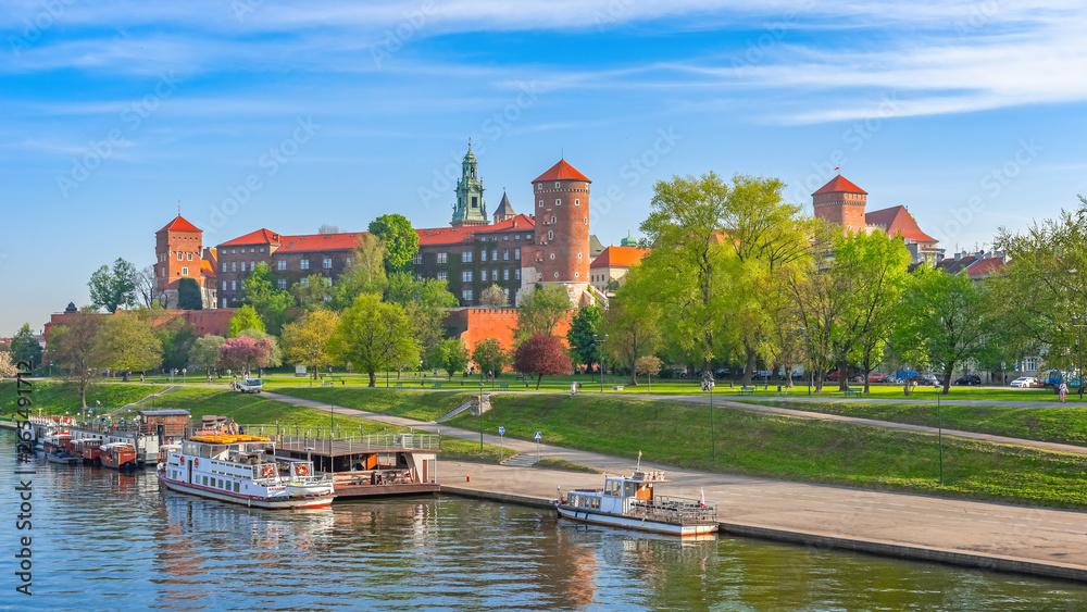 Fototapety, obrazy: Wawel nad Wisłą, Kraków