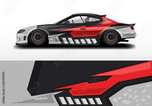 Leinwand Poster Car decal design vector