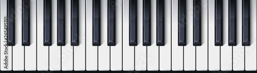 Fotografía  Piano keyboard seamless