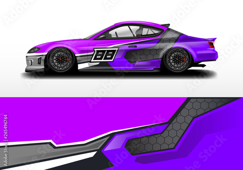 Obraz na plátne Car wrap graphic vector