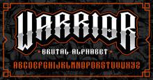 Warrior Font, Brutal Typeface ...