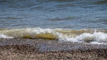Ocean Waves Onto Pebble Beach