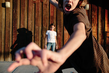 Girl Interrupting Picture Bein...