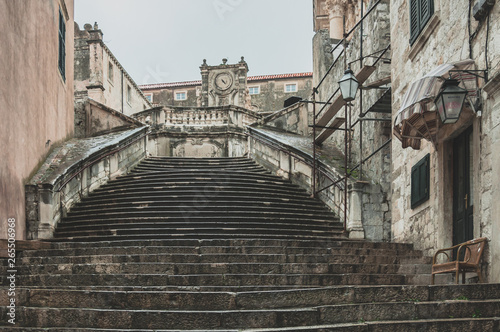 Walk of shame stairs. Dubrovnik/ Game Of Thrones Canvas Print