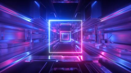 3d render, abstract futuris...