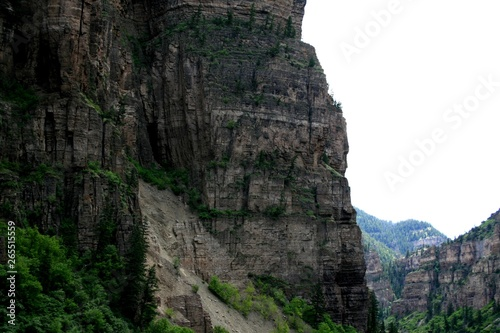 Green mountains and canyons of the state of Colorado Canvas