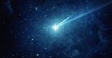 Falling meteorite, asteroid, comet in the starry sky. Elements of this image furnished by NASA.