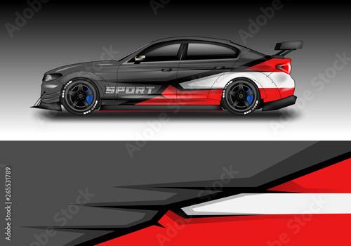 Tablou Canvas Car wrap designs vector