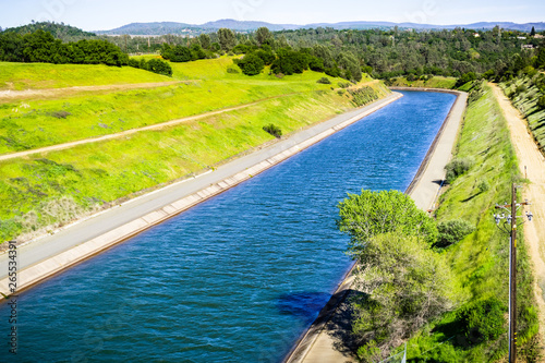Valokuva The Thermalito Power Canal in Oroville, Butte County, North California