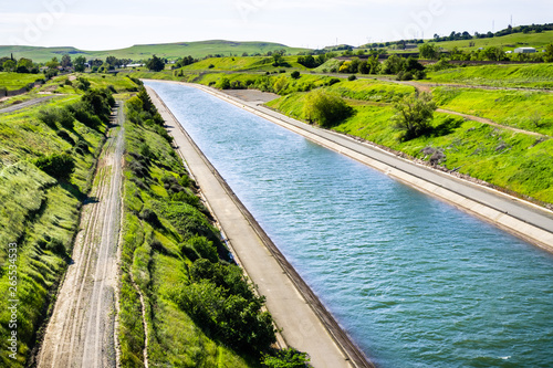The Thermalito Power Canal in Oroville, Butte County, North California Slika na platnu