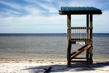 Lifeguard Stand At The Beach
