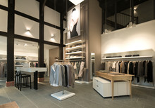 Clothes For Sale In Modern Store