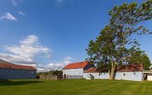 Barn And Outbuildings On Farm
