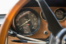 Close Up Of Speedometer In Ret...
