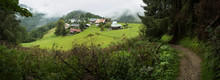 Village In Green Hills, Les Houcheas, France
