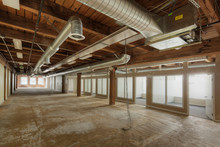 Empty Office Space Under Construction