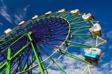 Ferris Wheel Ride At Amusement...