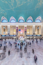 Blurred People Walking Outside Grand Central Terminal, New York City, New York, United States,