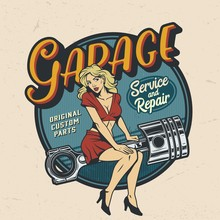 Vintage Colorful Garage Repair...