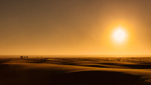 Sunrise Over Beach Sand Dunes