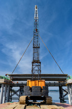Low Angle View Of Crane And Br...