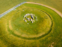 Aerial View Of Stonehenge In S...