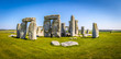 canvas print picture - View of Stonehenge in summer, England