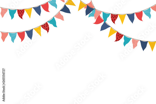 Fotografie, Obraz  party garland hanging isolated icon