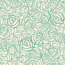 Vector Yellow Green Floral Seamless Pattern Background. Perfect For Wallpaper, Scrapbooking, Invitations, Or Fabric Application.