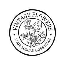 Vintage Flowers Logo
