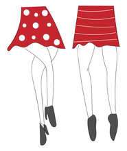 Sketch Of Mini Skirts Vector Illustration