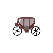 Small Carriage Vector Or Color...