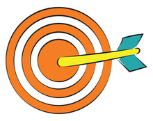 Orange Dart Vector Or Color Illustration