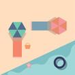 Summer beach vector or color illustration