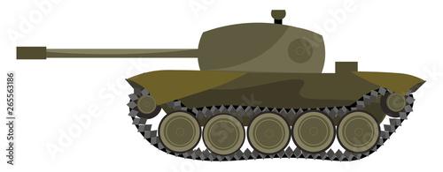 A heavy tank vector or color illustration Billede på lærred