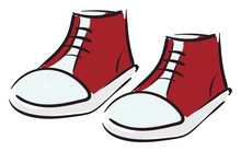 Clipart Of A Pair Of Red-kids ...
