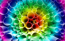 Color Rainbow Of PVC Pipes Sta...