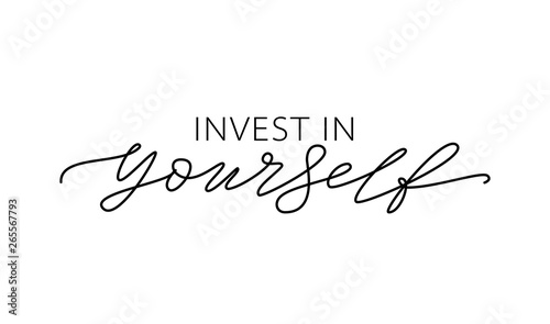 Canvas Print Invest in yourself