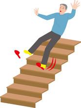 高齢者の家庭内事故 階段から落下