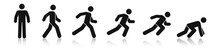 Stick Figure Walk And Run. Run...