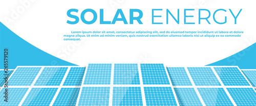 Fotomural Solar energy panels