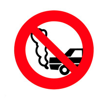 Turn Off Engine Sign. No Idling.